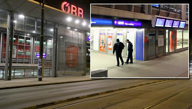 Bombendrohung legte Bahnhof Wien-Meidling lahm (Bild: Andi Schiel)
