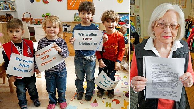 Ilse Lang und die Kinder wollen bleiben. (Bild: Martin A. Jöchl)