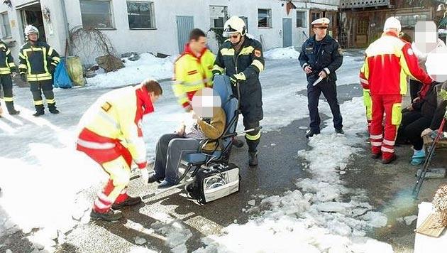 Männer retten betagte Frau aus brennendem Haus (Bild: FF Frankenfels)