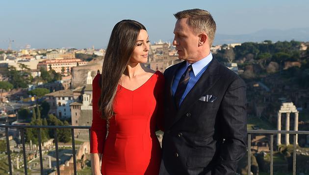 Monica Bellucci und Daniel Craig in Rom (Bild: AFP)