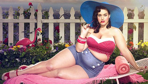 Katy Perry wird zur Pluz-Size-Schönheit. (Bild: facebook.com/davidlopera.artwork)