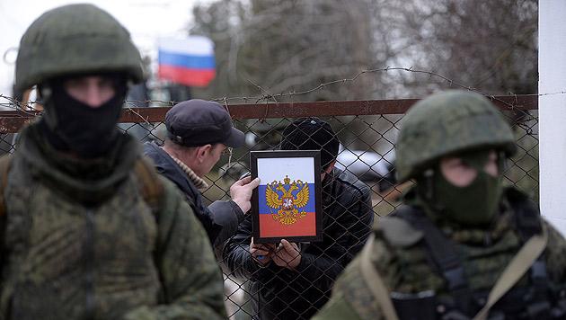 Ähnliche Vorgänge wie auf der Krim (Bild) befürchtet man auch im Baltikum. (Bild: AFP)