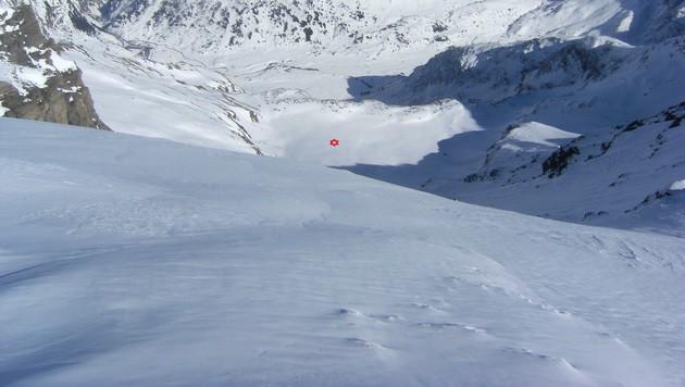 Rund 500 Höhenmeter rutschte der 14-Jährige ab. (Bild: LPD Kärnten)