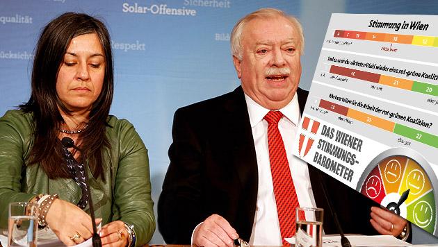 Wien-Wahl: Ärger über Streit in Regierung (Bild: Zwefo, Krone Grafik)