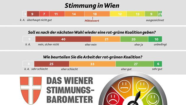 Wien-Wahl: Ärger über Streit in Regierung (Bild: Krone Grafik)