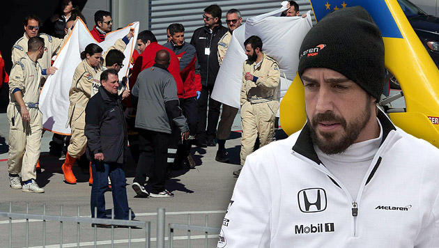 Alonso-Crash bei Tests: Entwarnung um Superstar (Bild: APA/EPA/TONI ALBIR, APA/EPA/Roman Rios)