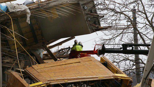 Brückeneinsturz: Hilfsgerüst war falsch berechnet (Bild: Jürgen Radspieler)