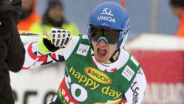 Doppelschlag! Mayer triumphiert auch im Super-G (Bild: APA/HANS PUNZ)