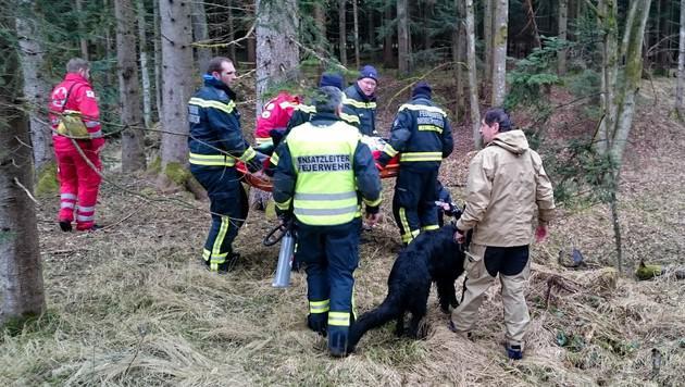 Nach stundenlanger Suche konnte der 80-Jährige gefunden werden. (Bild: Feuerwehr Mooskirchen)