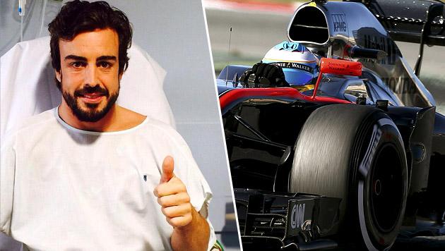 Fernando Alonso dachte, er sei 13 Jahre alt (Bild: APA/EPA/TONI ALBIR, facebook.com/AlonsoOfficial)