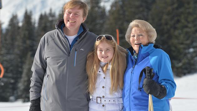 Hollands Königsfamilie urlaubt wieder am Arlberg (Bild: AP)