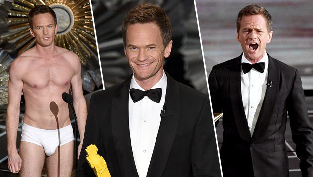 Neil Patrick Harris als Oscar-Moderator witzlos (Bild: AP)