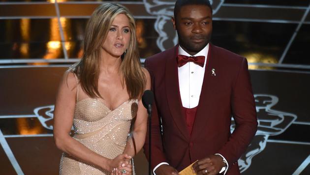 Jennifer Aniston und David Oyelowo (Bild: AP)