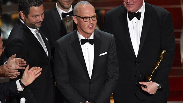 "Michael Keaton ging zwar leer aus, ""Birdman"" bekam aber den Oscar als ""Bester Film"". (Bild: John Shearer/Invision/AP)"