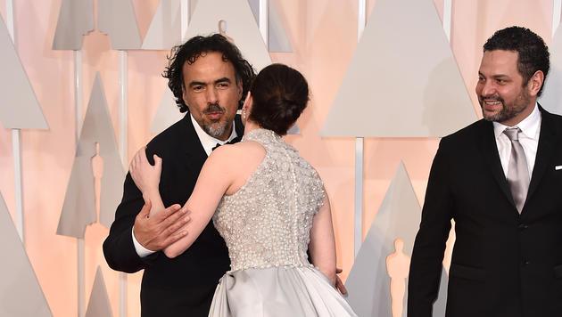 Alejandro Gonzalez Inarritu mit Felicity Jones (Bild: AP)