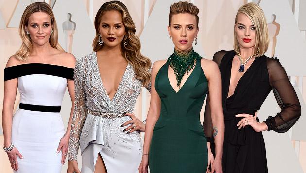Reese Witherspoon, Chrissy Teigen, Scarlett Johansson, Emma Stone (Bild: AP, EPA, AFP)