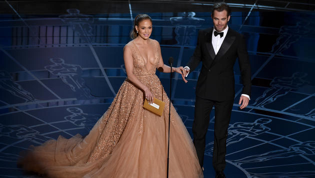 Jennifer Lopez und Chris Pine (Bild: AP)