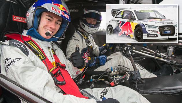 Stefan Kraft & Co. driften mit Rallye-Ass am Eis (Bild: EXPA/ JFK)
