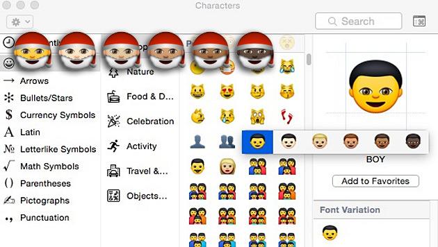 Emojis bekommen unterschiedliche Hautfarben (Bild: Apple)
