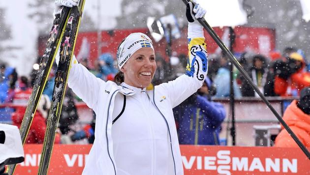 Langläuferin Kalla holt 1. Gold für Schweden (Bild: APA/EPA/ANDERS WIKLUND)
