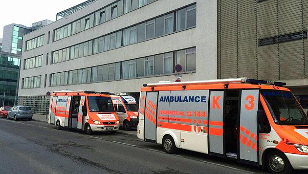 Die Wiener Berufsrettung rückte mit dem Katastrophenzug an. (Bild: Andi Schiel)