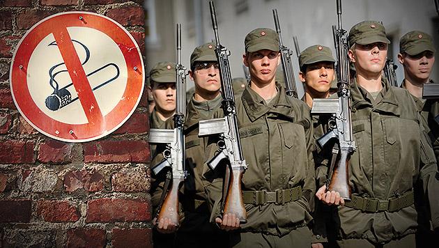 Bundesheer: Rauchverbot ab 1. Juli (Bild: APA/Roland Schlager, thinkstockphotos.de, krone.at-Grafik)