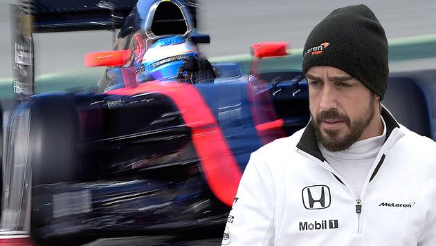 Fernando Alonso dachte, er sei 13 Jahre alt (Bild: APA/EPA/Roman Rios,  AP)