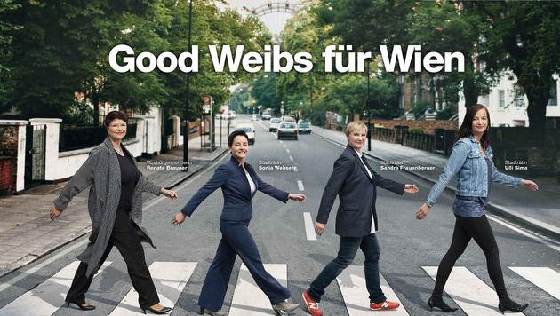 Über dieses Plakat wird derzeit im Netz eifrig diskutiert. (Bild: SPÖ Wien)