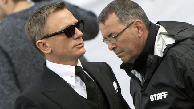 Daniel Craig bei Dreharbeiten in Rom (Bild: AFP/TIZIANA FABI)