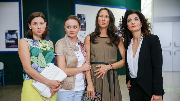 Martina Ebm (Caro), Gerti Drassl (Maria), Maria Köstlinger (Walli)und Proschat Madani (Tina) (Bild: ORF/Petro Domenigg)