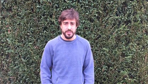 """Alonso spricht zu seinen Fans: """"Es geht mir gut"""" (Bild: YouTube.com)"""