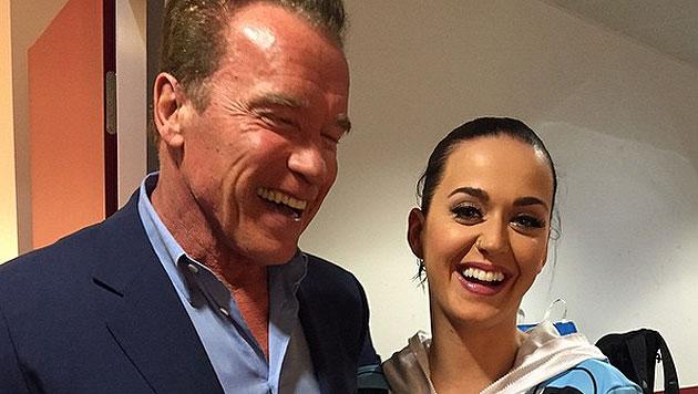 Arnold Schwarzenegger und Katy Perry in Wien (Bild: instagram.com/schwarzenegger)