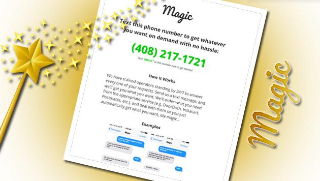 """""""Magic"""" erfüllt (fast) jeden Wunsch per SMS (Bild: thinkstockphotos.de, Screenshot: www.getmagicnow.com)"""