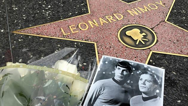 "Leonard Nimoys Stern am ""Walk of Fame"" (Bild: AP)"