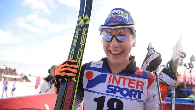 Johaug holt über 30 km ihr 3. Gold in Falun (Bild: APA/BARBARA GINDL)