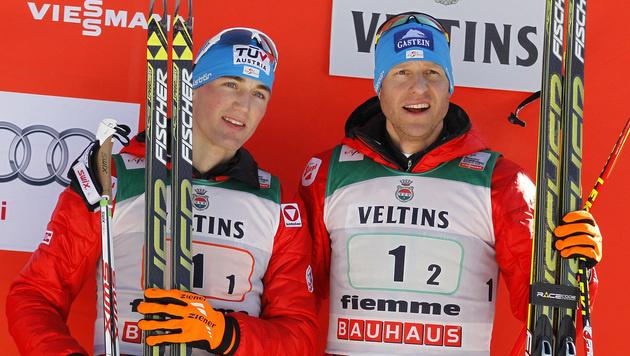 Sepp Schneider, Bernhard Gruber (Bild: AP/Andrea Solero)