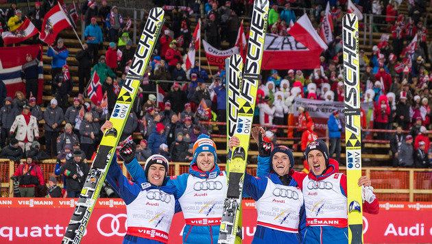 Nur Norwegen stärker: ÖSV-Adler erobern Silber (Bild: EXPA/JFK)