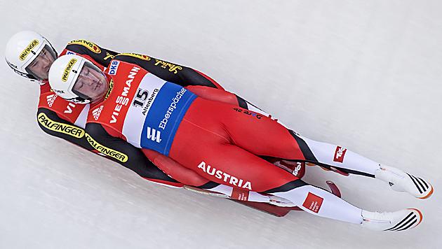 Penz/Fischler holen in Sotschi die Silbermedaille (Bild: AP)