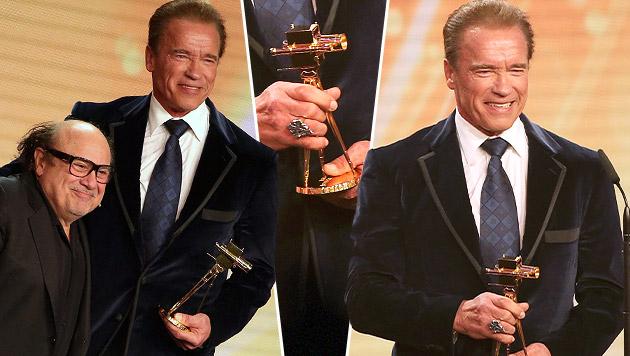 Schwarzenegger: Goldene Kamera fürs Lebenswerk (Bild: AP, APA/EPA/CHRISTIAN CHARISIUS, krone.at-Grafik)