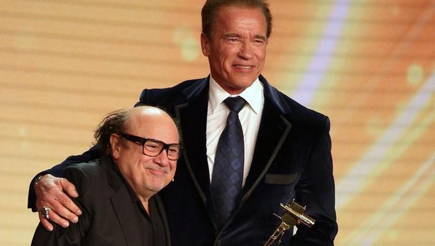 Schwarzenegger: Goldene Kamera fürs Lebenswerk (Bild: APA/EPA/CHRISTIAN CHARISIUS)