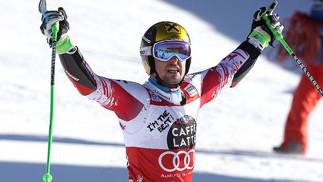 Hirscher triumphiert mit 3,28 Sekunden Vorsprung! (Bild: GEPA)