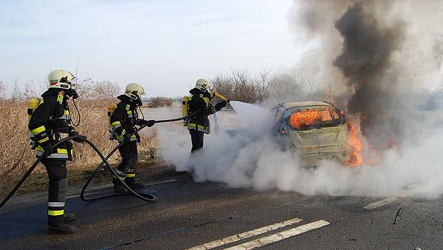 Motorradfahrer (49) prallt gegen Auto und stirbt (Bild: Mario Hütter/FF Laxenburg)