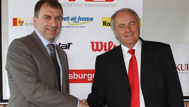Robert Groß (re.) mit Burgenlands Verbands-Präsident Guenter Kurz (Bild: GEPA)