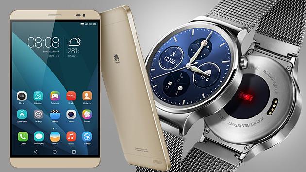 Huawei mit erster Smartwatch und 7-Zoll-Phablet (Bild: Huawei)