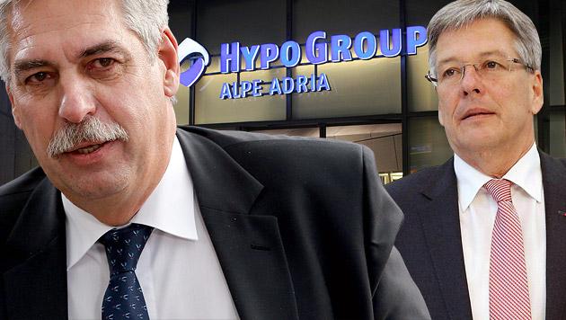 Finanzminister Hans Jörg Schelling (links), Kärntens Landeshauptmann Peter Kaiser (Bild: APA/EPA/JULIEN WARNAND, APA/GERT EGGENBERGER)