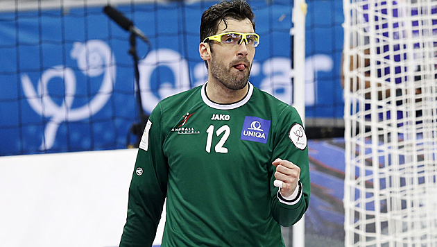 ÖHB-Teamgoalie Marinovic wechselt zu Schaffhausen (Bild: APA/Qatar 2015 via epa/Ali Haider)