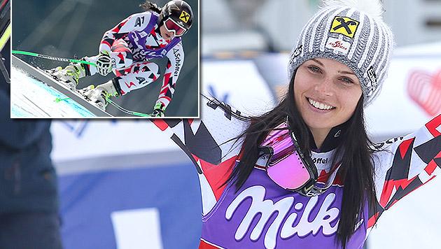 Sensationell! Nächster Triumph für Anna Fenninger (Bild: GEPA)