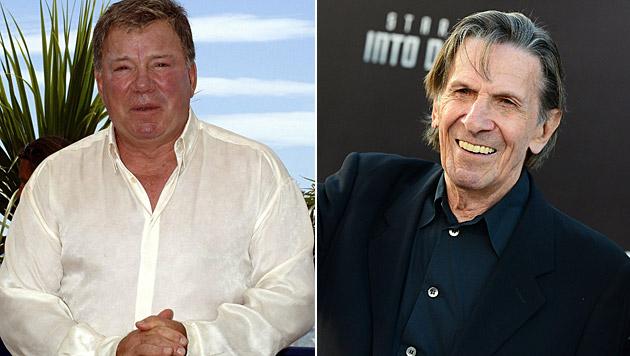 Wililam Shatner verpasste Leonard Nimoys Begräbnis. (Bild: epa/Daniel Deme, Jordan Strauss/Invision/AP)