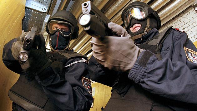 Duo sperrt Männer in Wohnung ein - WEGA-Einsatz (Bild: APA/HANS KLAUS TECHT (Symbolbild))