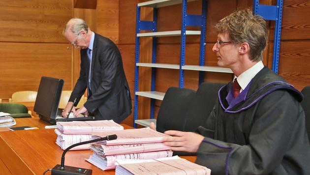 Gutachter Gernot Pauser und Richter Gerhard Melichar (Bild: Christof Birbaumer)